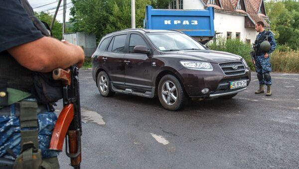 Kontrolní stanoviště Mukačevo na Ukrajině - Sputnik Česká republika