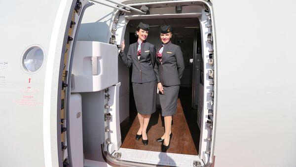 Dívky z letecké společnosti Qatar Airways - Sputnik Česká republika