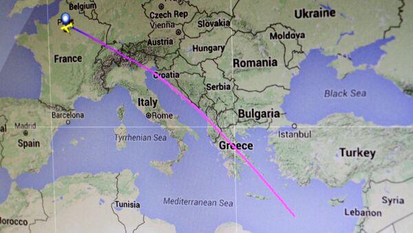 Trasa letu MS804 společnosti EgyptAir - Sputnik Česká republika