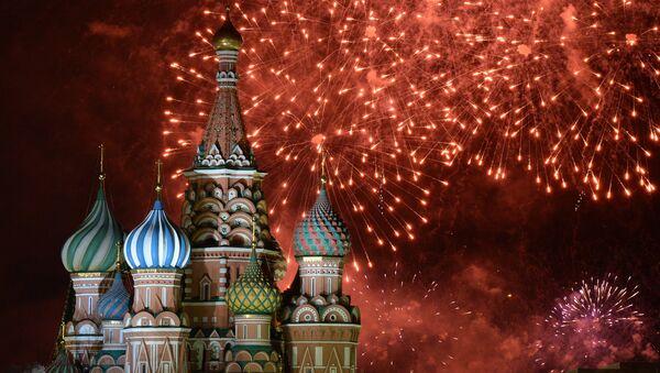Ohňostroj v Moskvě - Sputnik Česká republika