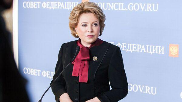 Předsedkyně ruské Rady federace Valentina Matvijenková - Sputnik Česká republika