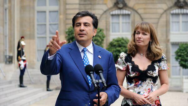 Michail Saakašvili a jeho žena Sandra Elisabeth Roelofs - Sputnik Česká republika