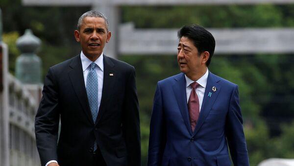 Barack Obama a Šinzó Abe - Sputnik Česká republika