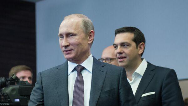 Alexis Tsipras s Vladimirem Putinem - Sputnik Česká republika
