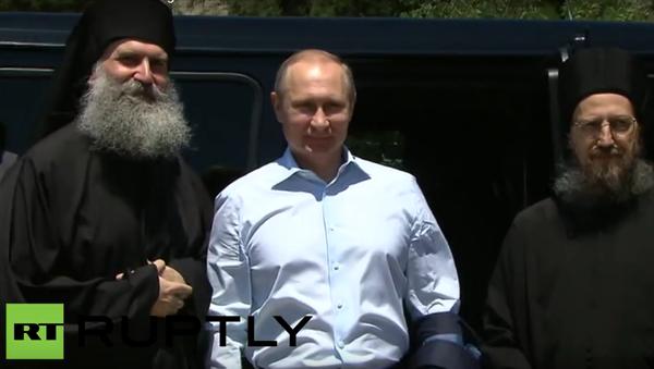 Putin na návštěvě na řeckém poloostrově Athos - Sputnik Česká republika
