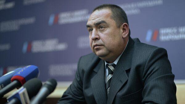 Nejvyšší představitel Luhanské lidové republiky (LLR) Igor Plotnickij - Sputnik Česká republika