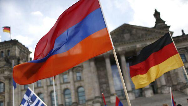 Armenská a německá vlajky - Sputnik Česká republika