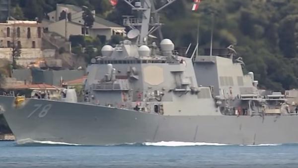 Raketový torpédoborec námořnictva USA Porter vstoupil do Černého moře - Sputnik Česká republika