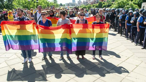 Gay-Parade v Kyjevě, 2015 - Sputnik Česká republika