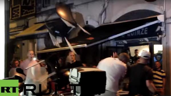 Srážka ruských a anglických fanoušků se dostala na video - Sputnik Česká republika