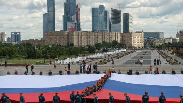 Oslavy Dne Ruska v Parku Vítězství v Moskvě - Sputnik Česká republika