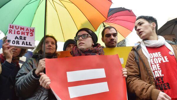 Průvod gayů v Kyjevě - Sputnik Česká republika