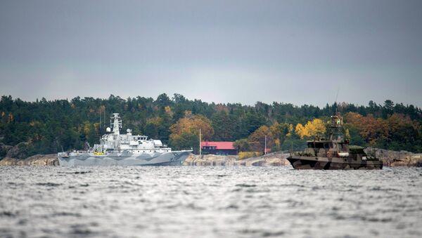 Švédské lodě pátrají po ponorce - Sputnik Česká republika