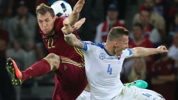 Zápas Rusko - Slovensko na ME 2016 - Sputnik Česká republika