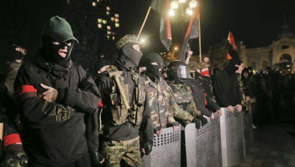Aktivisté ukrajinské radikální organizace Pravý sektor - Sputnik Česká republika