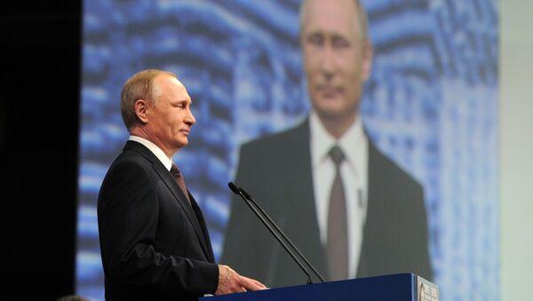Vladimir Putin na Petrohradském mezinárodním ekonomickém fóru - Sputnik Česká republika