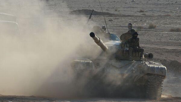 Tank T-72 v Sýrii. Ilustrační foto - Sputnik Česká republika