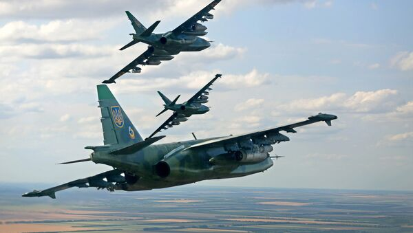 Ukrajinská bitevní letadla Su-25 - Sputnik Česká republika