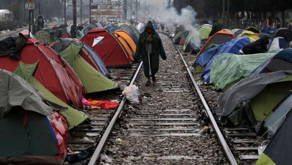 Tábor pro uprchlíky - Sputnik Česká republika
