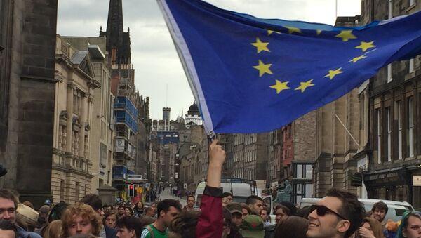 Mítink na podporu EU ve Skotsku - Sputnik Česká republika