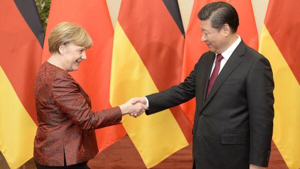 Si Ťin-pching a Angela Merkelová - Sputnik Česká republika
