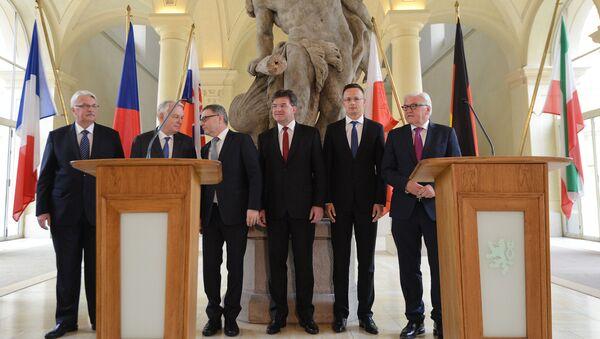Jednání visegrádské čtyřky s šéfy francouzské a německé diplomacie v Černínském paláci v Praze - Sputnik Česká republika