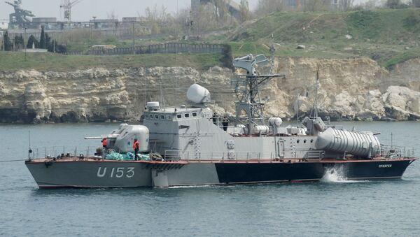 Ukrajinský člun Priluki a tanker Fastov - Sputnik Česká republika