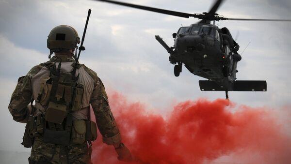 Američtí vojáci na japonské základně Okinawa - Sputnik Česká republika