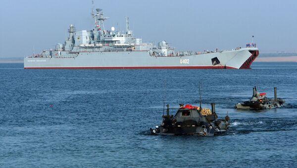 Vojenská cvičení ukrajinského a amerického loďstva Sea Breeze - Sputnik Česká republika
