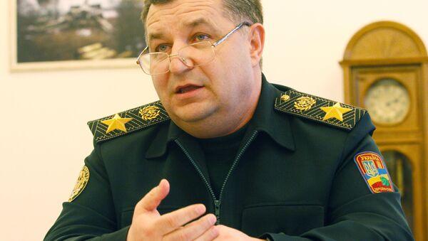 Ukrajinský ministr obrany Stepan Poltorak - Sputnik Česká republika