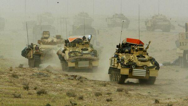 Britské tanky v Iráku, 2003 - Sputnik Česká republika