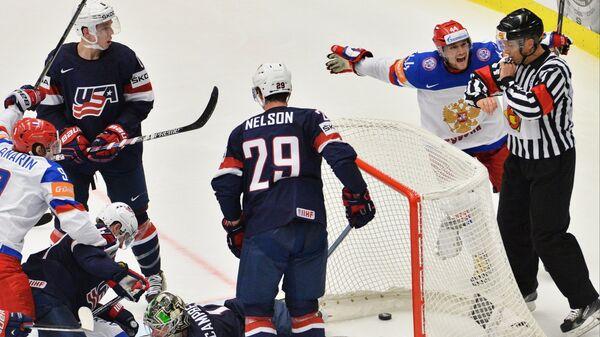 Hokej. Mistrovství světa. Rusko vs USA. - Sputnik Česká republika