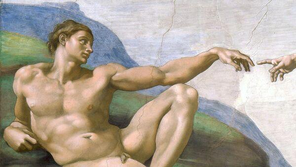 Creazione di Adamo od autora Michelangelo - Sputnik Česká republika