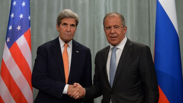 John Kerry a Sergej Lavrov - Sputnik Česká republika