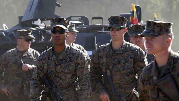 Američtí vojáci během cvičení v Litvě - Sputnik Česká republika