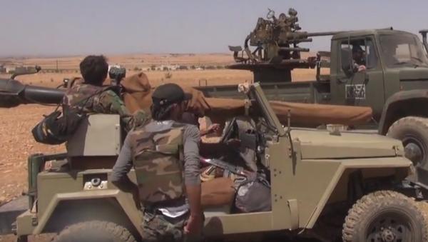 Syrská armáda přebírá kontrolu nad ropovodem u Salamije - Sputnik Česká republika