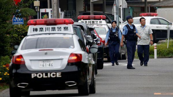 Policisté na místě útoku v Japonsku - Sputnik Česká republika