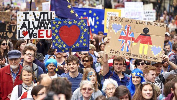 Mítink proti výstupu Velké Británie z EU - Sputnik Česká republika