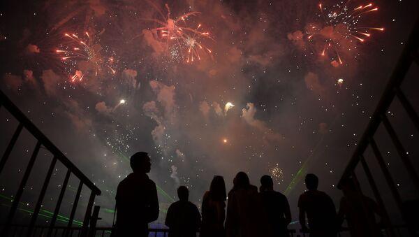 Mezinárodní festival ohňostrojů Rostech v Moskvě - Sputnik Česká republika