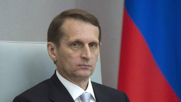Ředitel Služby vnější rozvědky RF (SVR) Sergej Naryškin - Sputnik Česká republika