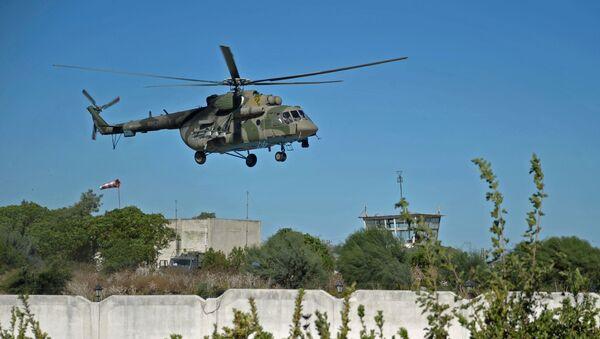 Ruský vrtulník Mi-8 v Sýrii - Sputnik Česká republika