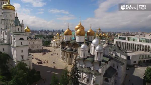 Moskevský Kreml z ptačí perspektivy - Sputnik Česká republika