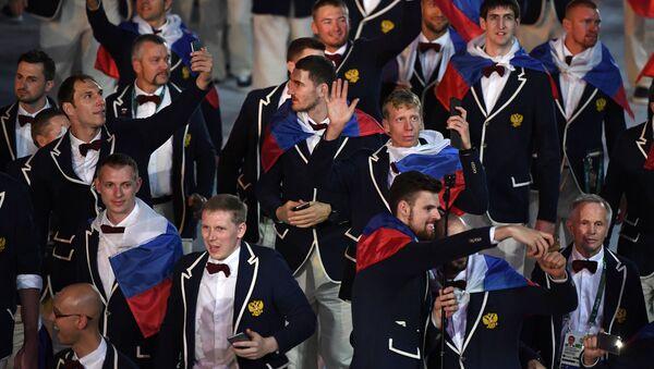 Ruská reprezentace na zahájení OH 2016 v Riu - Sputnik Česká republika