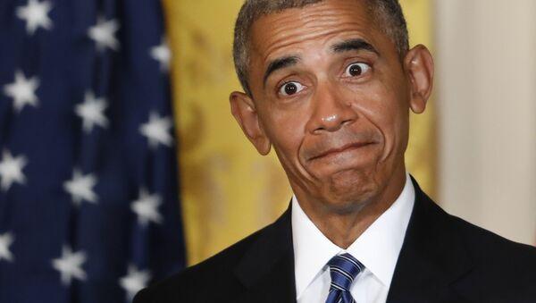 Prezident USA Barack Obama na tiskové konferenci v Bílém domě - Sputnik Česká republika