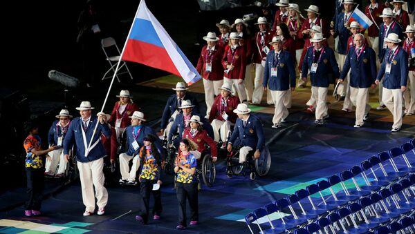 Ruská reprezentace na ceremonii zahájení paralympijských her v Londýně - Sputnik Česká republika