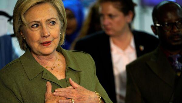 Kandidátka na prezidenta USA, demokratka Hillary Clintonová - Sputnik Česká republika