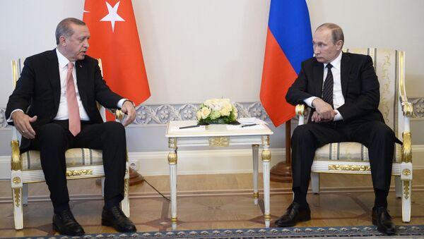 Schůzka Vladimira Putina a Tayyipa Erdogana - Sputnik Česká republika