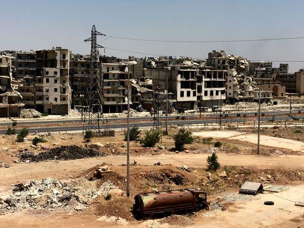 Syrská armáda na první linii v Aleppu - Sputnik Česká republika
