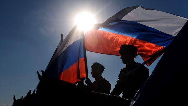 Ruské vlajky - Sputnik Česká republika