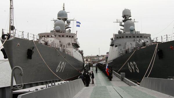 Raketové lodě Tatarstán a Dagestán - Sputnik Česká republika